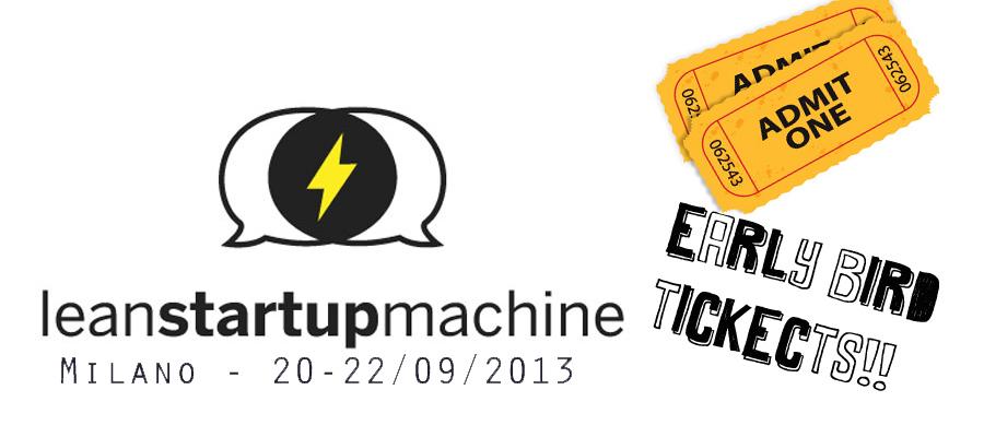 Lean Start Up Machine Milano: con idea-re 10% sconto sul biglietto!